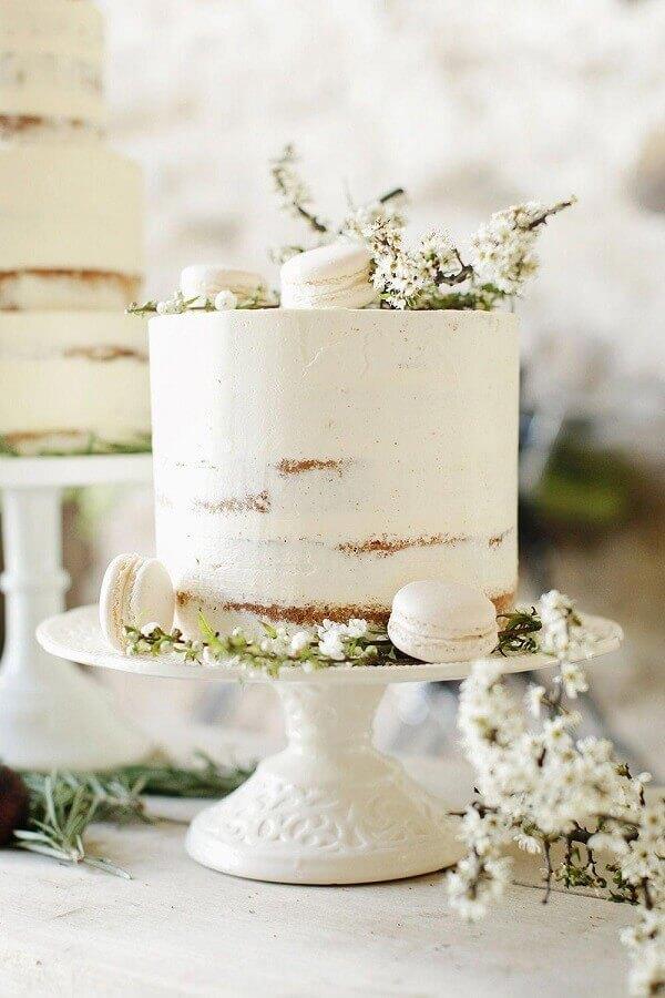 bolo de aniversário de casamento simples Foto Pinterest