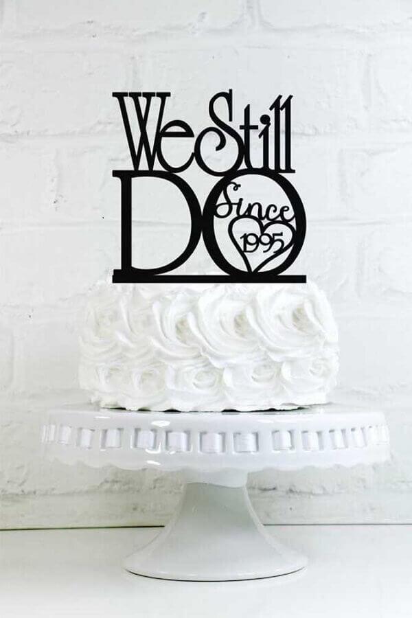 bolo de aniversário de casamento simples Foto Weddbook