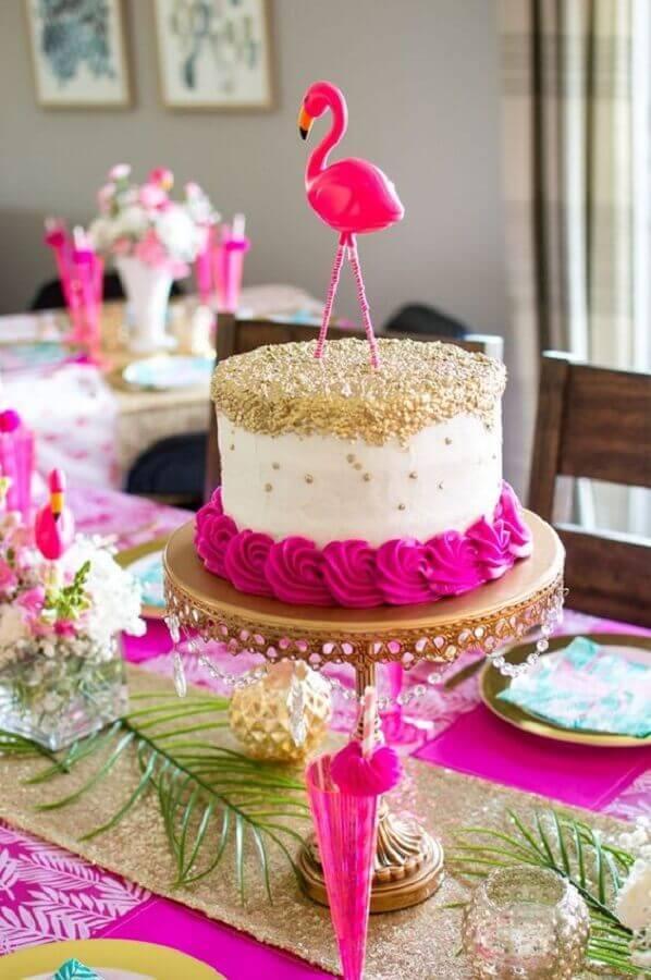 bolo para festa flamingo Foto The Blue Eyed Dove