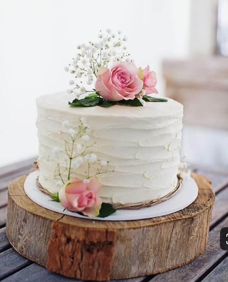 bolo simples para aniversário de casamento Foto Easy Weddings