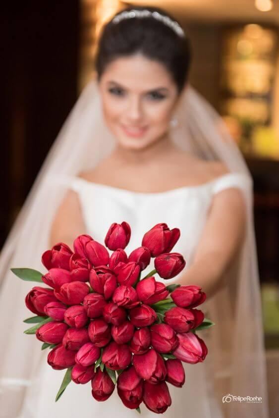 Buquê de flores vermelhas: Tulipa