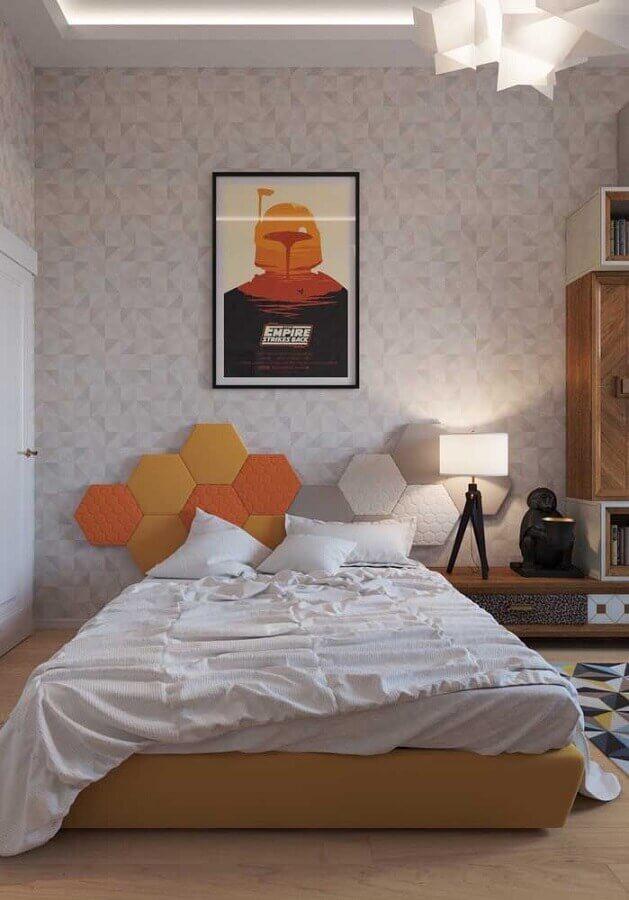 cabeceira moderna para quarto juvenil Foto Pinterest