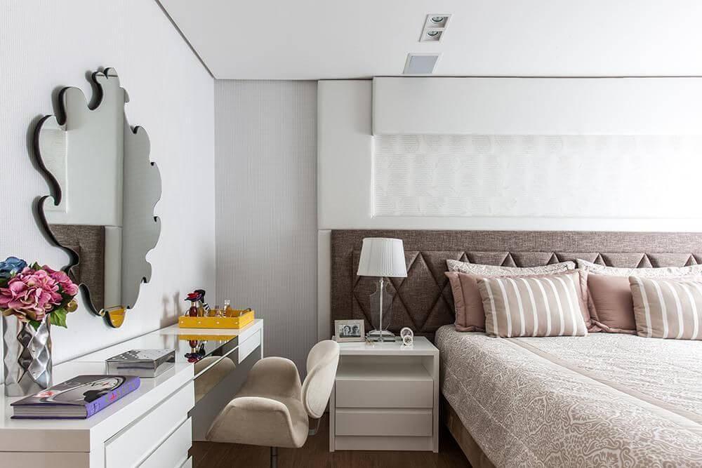 cabeceira - quarto com cabeceira estofada