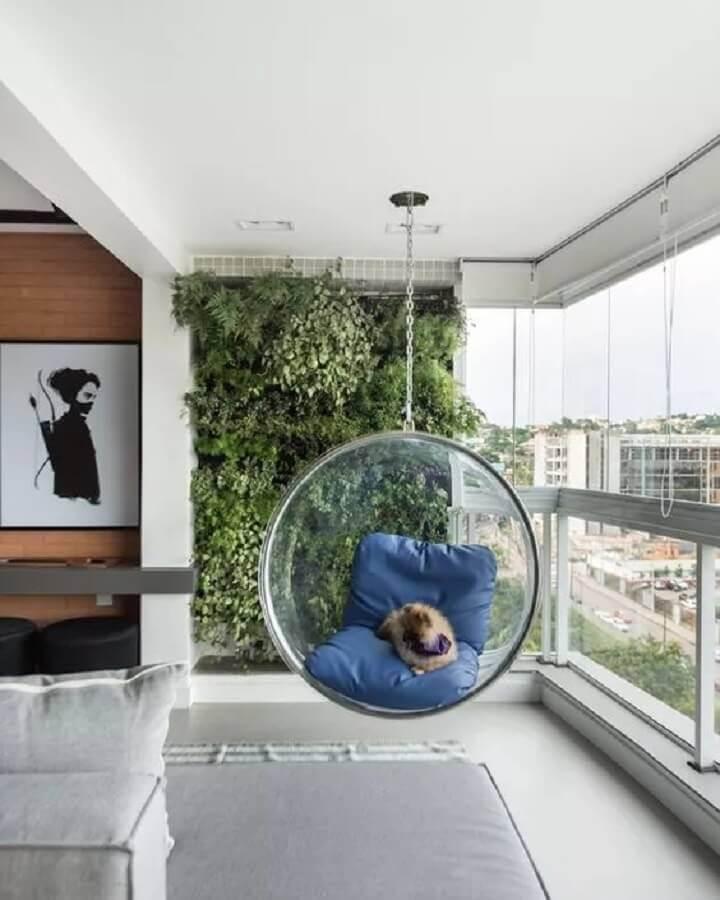 cadeira de balanço de acrílico para varanda Foto Pinterest