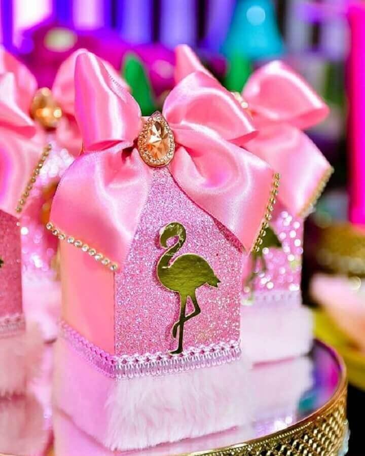 caixinhas personalizada para festa tema flamingo Foto Natan Alves