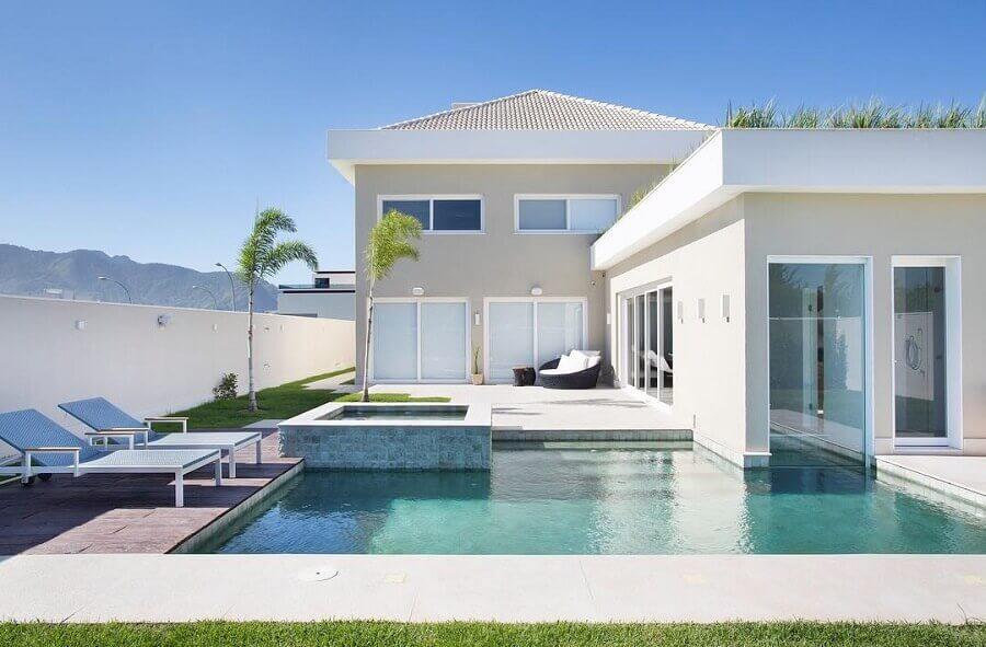 casa em l com piscina Foto Roberta Nicolau Arquitetura