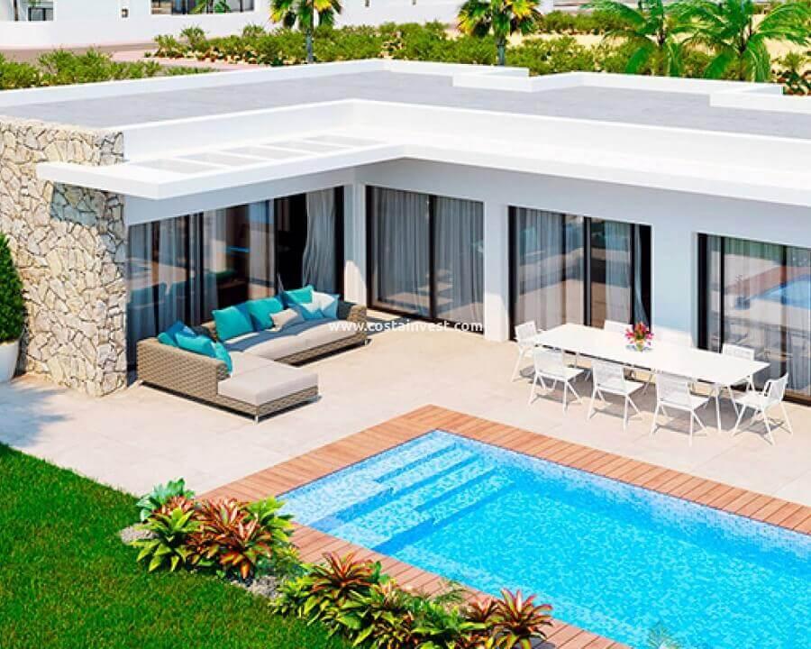 casa em l com piscina e arquitetura moderna Foto Costa Invest