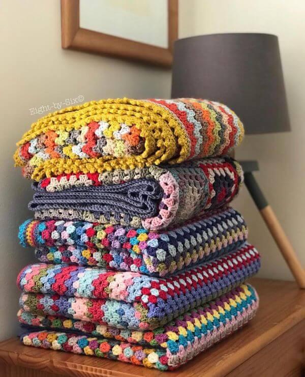 Diferentes tipos de colcha de crochê para cama
