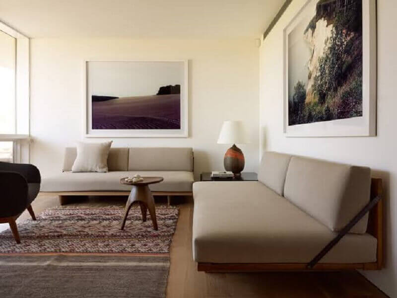 conjunto de sofá com design moderno Foto Ecce Home
