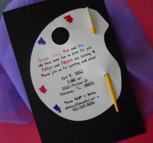 Convite de aniversário infantil criativo colorido