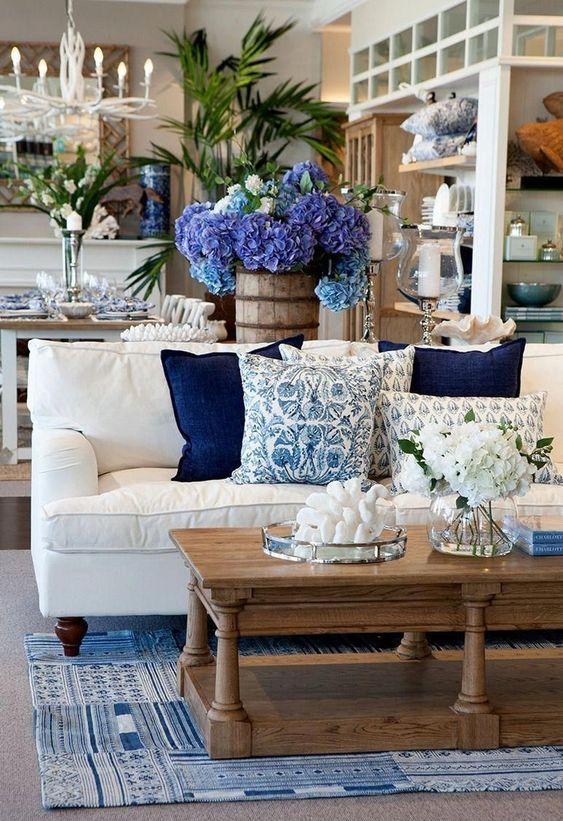 Almofada em classic blue