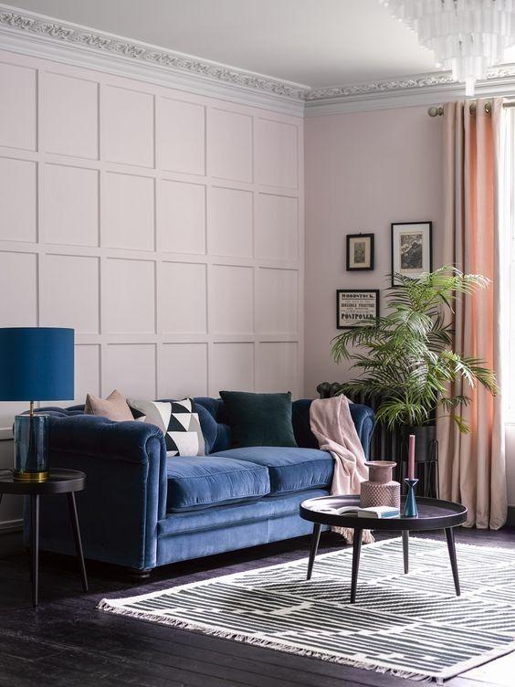 Tendência de decoração para a sala de estar ser confortável