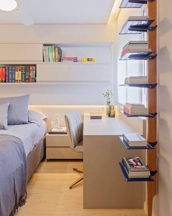 cores neutras para decoração de quarto juvenil planejado Foto Dubal Arquitetura & Design