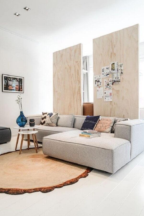 decoração com sofá cinza moderno Foto Pinterest