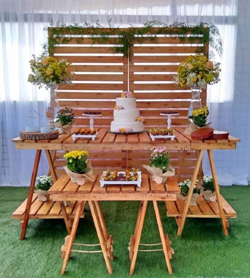 decoração de aniversário de casamento simples Foto Linda Locações