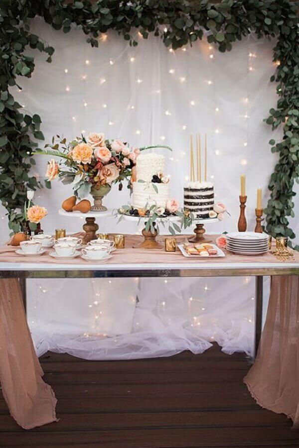 decoração de aniversário de casamento simples e rústica Foto Style Me Pretty
