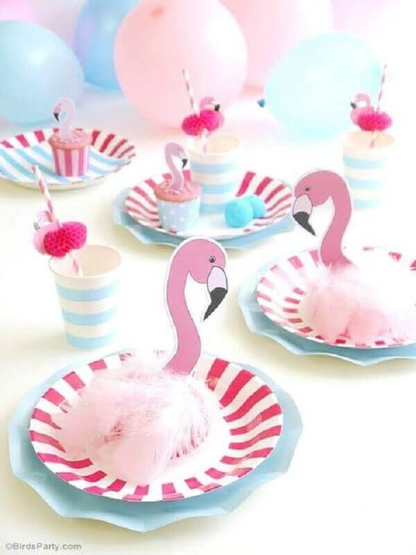 decoração de festas flamingo simples e minimalista Foto It Party