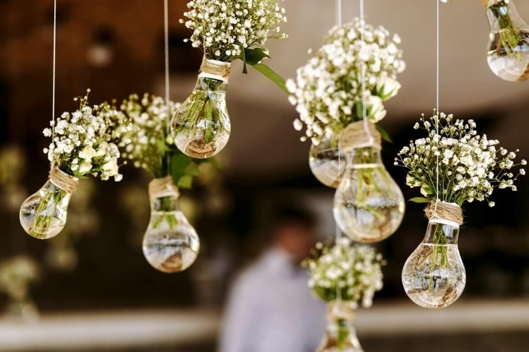 decoração de noivado
