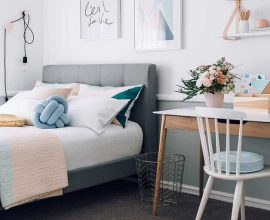 decoração minimalista para quarto juvenil feminino  Foto Architecture Art Designs