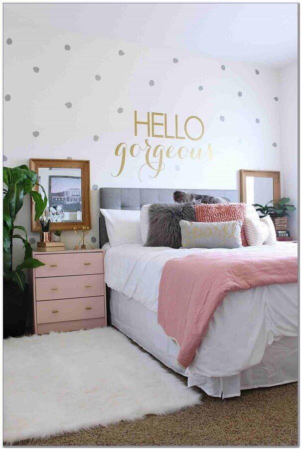 decoração romântica para quarto juvenil feminino Foto Pinterest