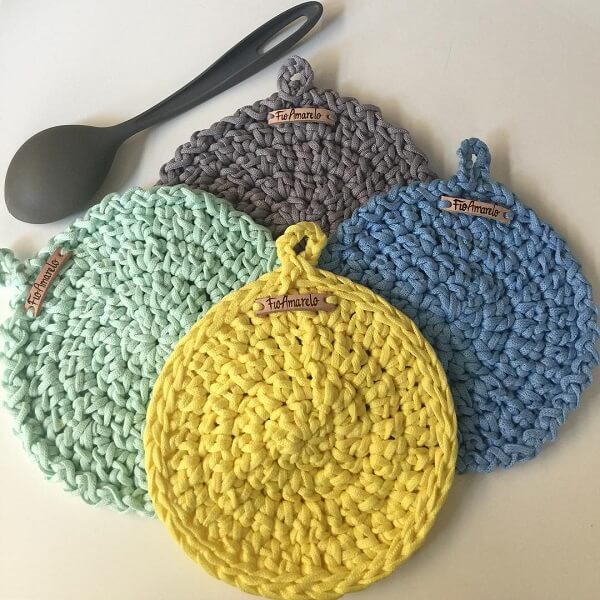 Crochet pot rest kit