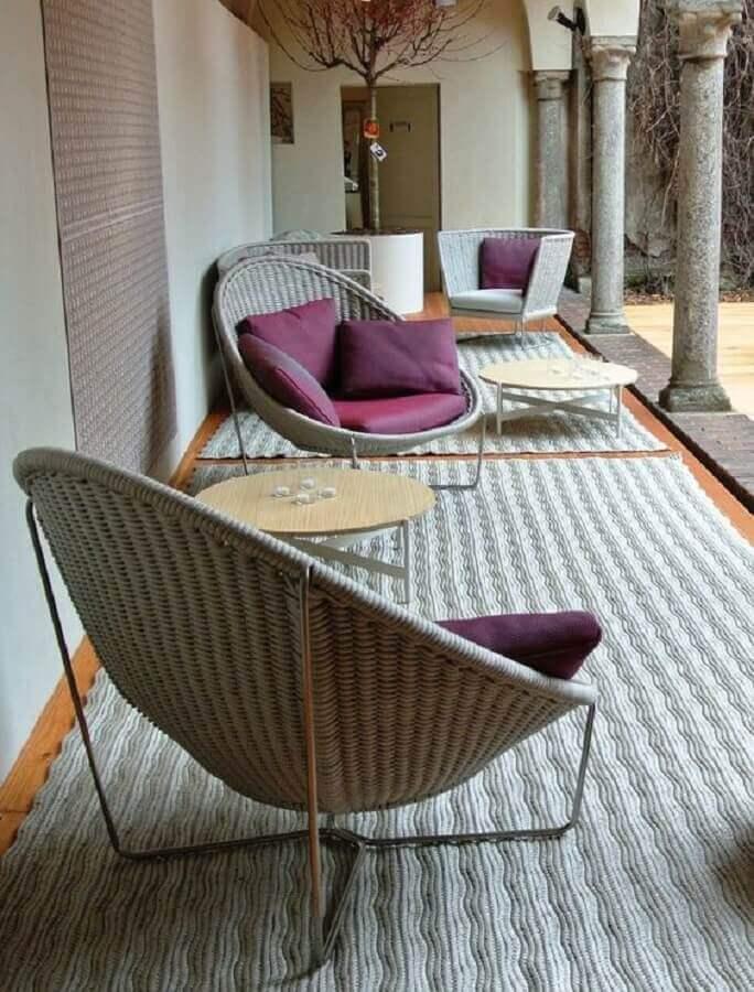 design moderno de cadeiras para varanda Foto Dedece Blog