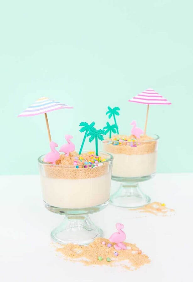 sweets decorated in bowls for party theme flamingo Photo Ideas Decor