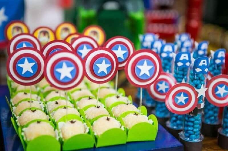 Captain America's sweets for revenge party Foto Pinterest