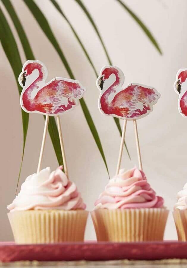 flamingo birthday party with custom Photo PartyBox cupcakes