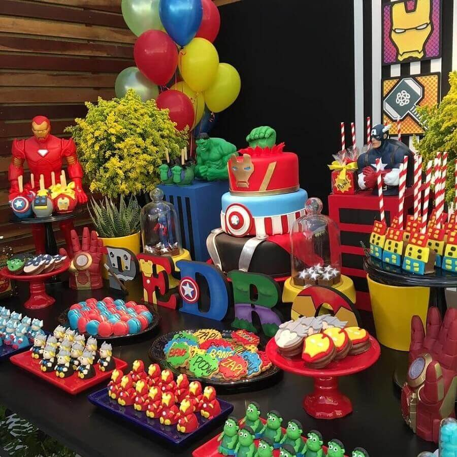 avengers birthday party with colorful decoration Photo I Had an Idea