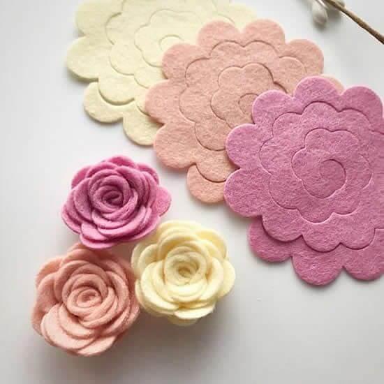 Aprenda como fazer flores de feltro