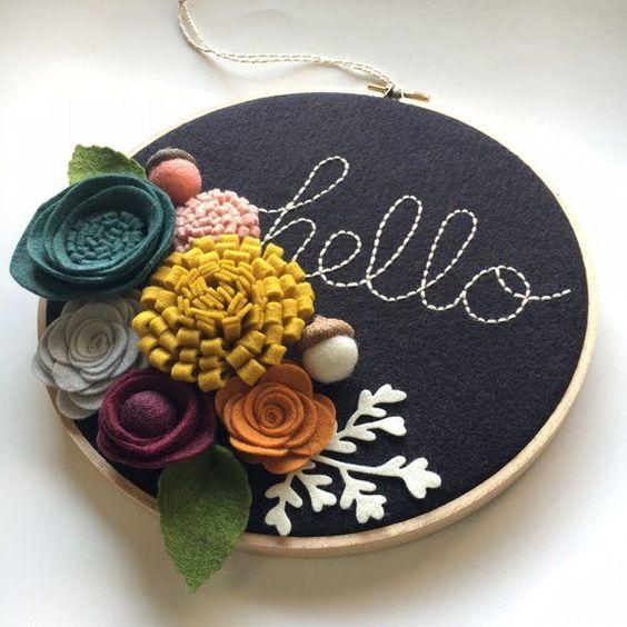 Flor de feltro artesanato