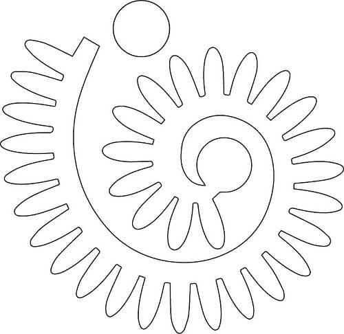 Flor de feltro para margarida