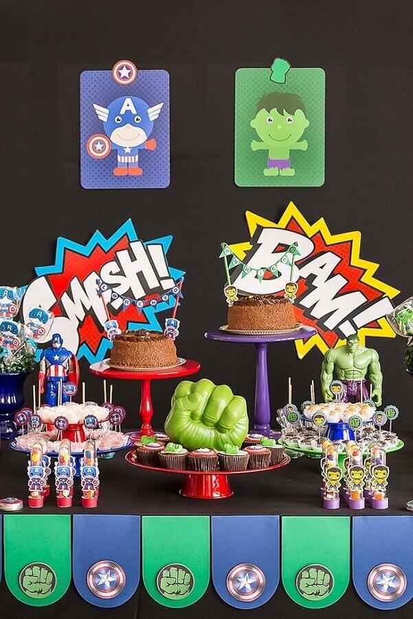 idea of decoration for avengers party Foto Pinterest