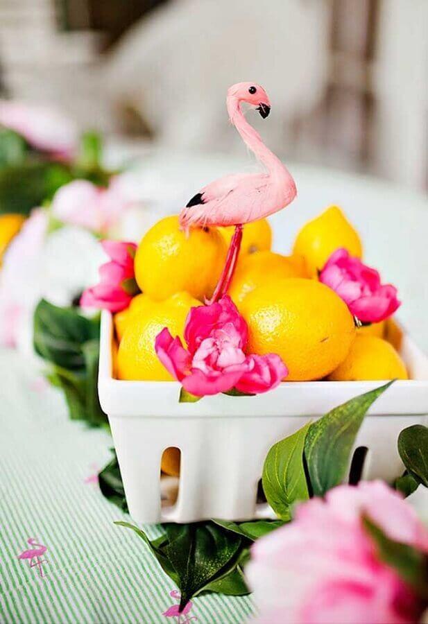 Decor idea for tropical flamingo party Foto Ideias Decor