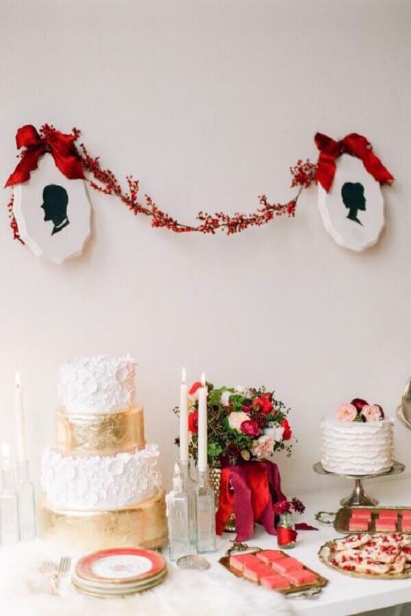 ideia para aniversário de casamento simples Foto Baú das Dicas