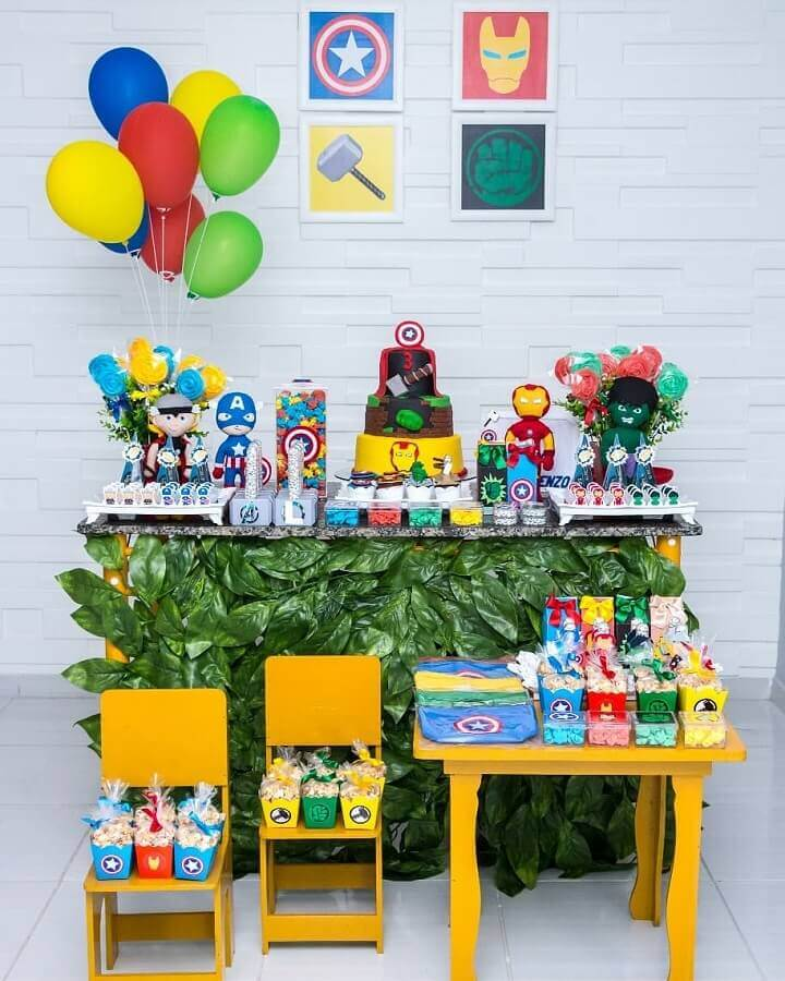 idea for simple avengers party Photo Baby Space Workshop