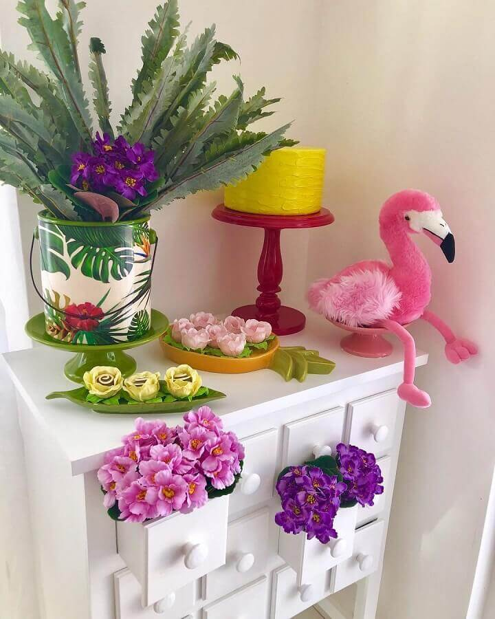 decoration ideas for simple flamingo party Photo Loves Party