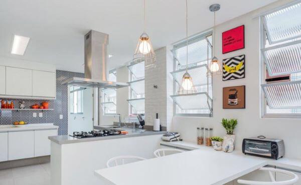 Janela de vidro basculante para cozinha