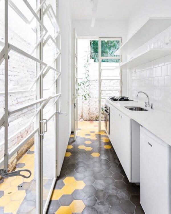Janela de vidro basculante para cozinha pequena