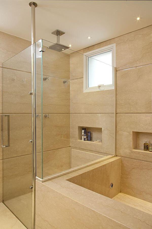 Janela de vidro para banheiro