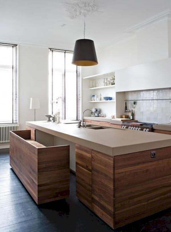 Janela de vidro para cozinha