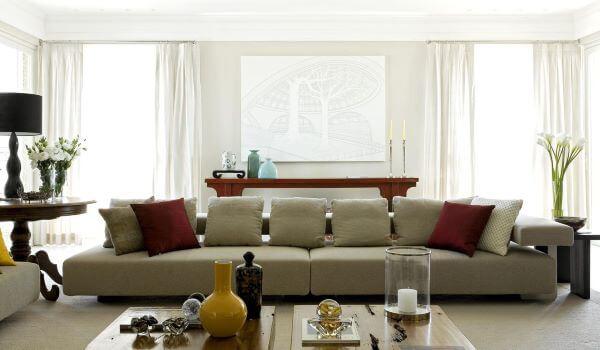 Janela de vidro para sala de estar