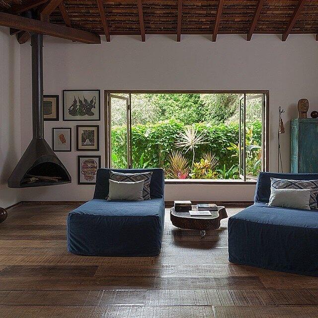 Janela de vidro para sala com modelo camarão