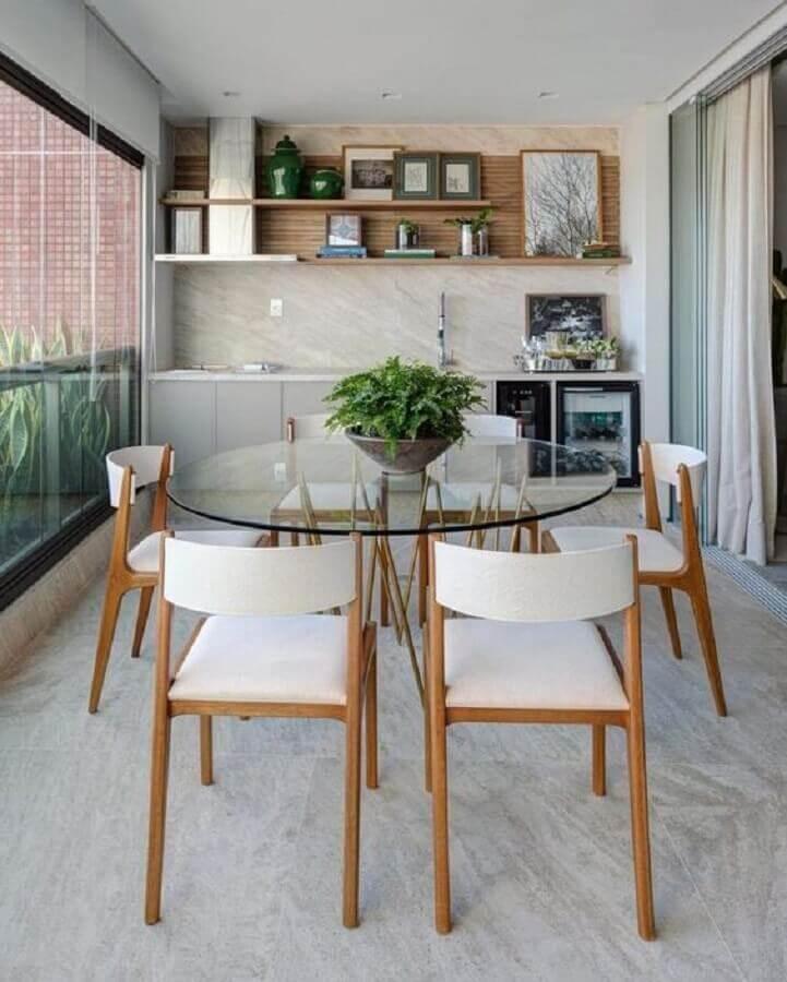 jogo de cadeira para varanda moderna gourmet Foto Dicas de Mulher