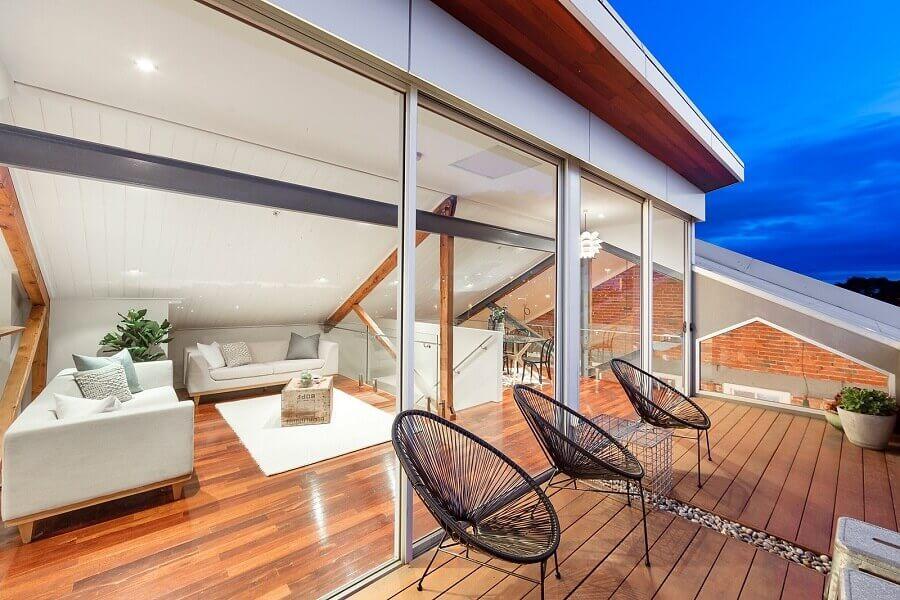 jogo de cadeiras para varanda moderna Foto Nelson Alexander