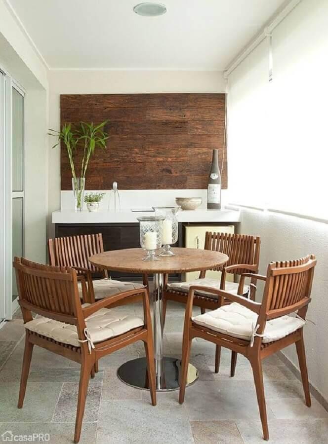 jogo de mesa e cadeira para varanda Foto Pinterest