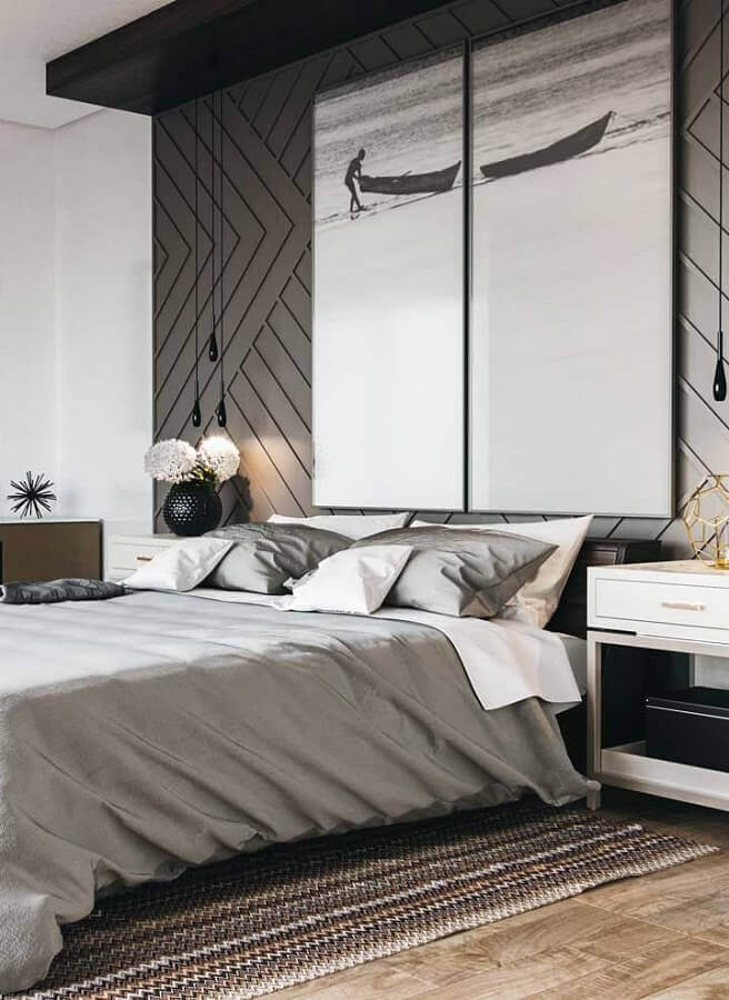 kit de quadros para quarto de casal moderno Foto Wood Save