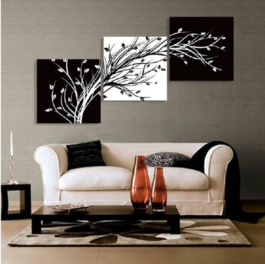 kit quadros preto e branco para sala Foto DHgate