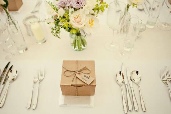 Lembrancinha de mesa de casamento